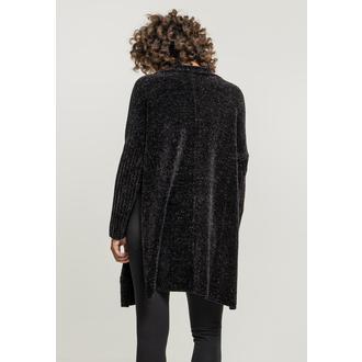 Cardigan pour femmes URBAN CLASSICS - Chenille - noir, URBAN CLASSICS