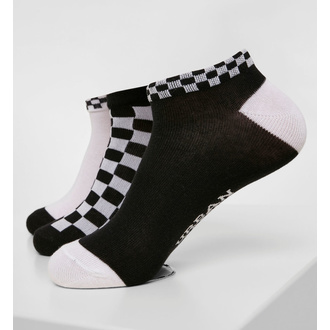 chaussettes (ensemble de 3 paires) URBAN CLASSICS - Sneaker Checks 3-Pack - noir / blanc, URBAN CLASSICS