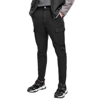 Pantalon pour hommes URBAN CLASSICS - Tapered Double Cargo - noir, URBAN CLASSICS