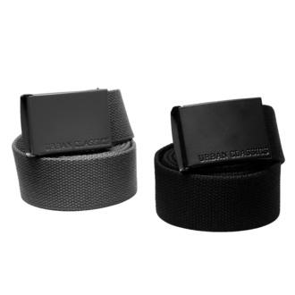 URBAN CLASSICS ceinture - Colored Buckle Canvas 2-Pack - asphalte / noir, URBAN CLASSICS