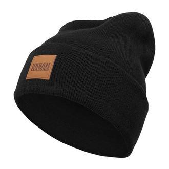 Bonnet URBAN CLASSICS - Écusson en cuir - noir, URBAN CLASSICS