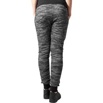 Pantalon pour femmes (pantalon de survêtement) URBAN CLASSICS - Ajusté - noir / gris, URBAN CLASSICS