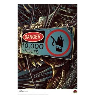 Peinture imprimée Jurassic Park - Danger, NNM, Jurassic Park