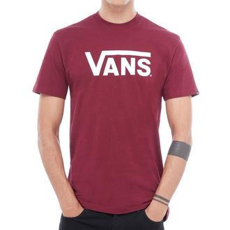 t-shirt hommes VANS - MN VANS CLASSIC - Bourgogne / blanc, VANS