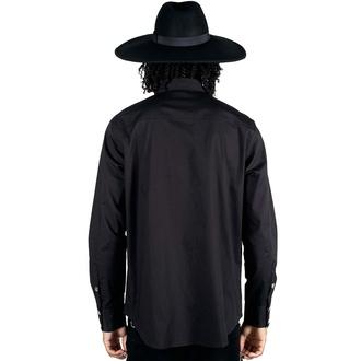 chemise pour homme KILLSTAR - Vladimir - Noir, KILLSTAR