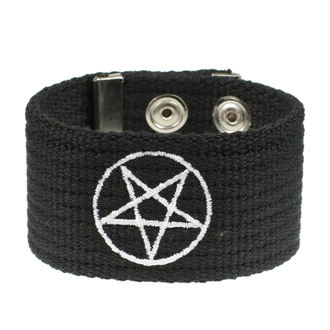 Bracelet Pentacle, BLACK & METAL