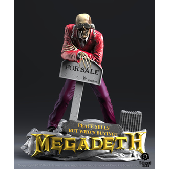 Figurine (Décoration) Megadeth - Rock Iconz - Paix Sells - VIC Rattlehead 2, KNUCKLEBONZ, Megadeth