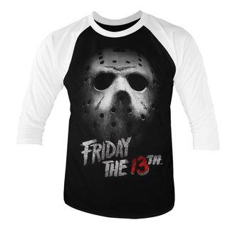 tričko pánské s 3/4 rukávem Friday the 13th (Pátek třináctého) - White - HYBRIS, HYBRIS, Friday the 13th