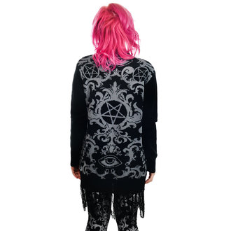 Cardigan TOO FAST - BAROQUE VICTORIAN GOTHIC PENTAGRAM LONG0FRINGE, TOO FAST