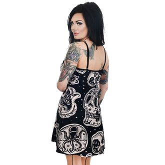 Robe femmes TOO FAST- PATCHWORK TATOUAGE & CRÂNE IMPRESSION GINGEMBRE PATINEUR, TOO FAST