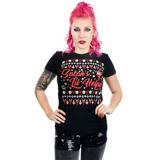 tee-shirt gothic et punk pour femmes - SATAN'S LIL HELPER EVIL CHRISTMAS BABYDOLL - TOO FAST, TOO FAST