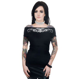 tee-shirt gothic et punk pour femmes - FOXY OFF THE SHOULDER - TOO FAST, TOO FAST