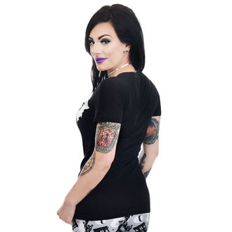 tee-shirt gothic et punk pour femmes - HAUNTED HOUSE & GHOSTS - TOO FAST, TOO FAST