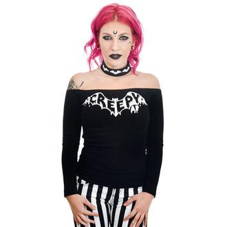 tee-shirt gothic et punk pour femmes - TABITHA CHOKER - TOO FAST, TOO FAST