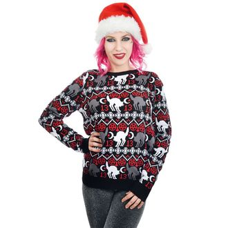 Pull pour femmes TOO FAST - BLACK CAT & PENTAGRAM XMAS UGLY CHRISTMAS, TOO FAST