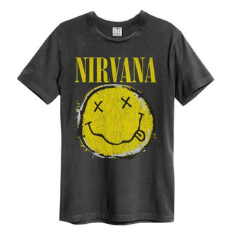 tee-shirt métal pour hommes Nirvana - Worn Out Smiley - AMPLIFIED - ZAV210DNS