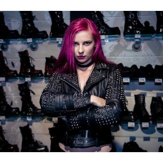 veste en cuir pour femmes - Metal - KILLSTAR, KILLSTAR