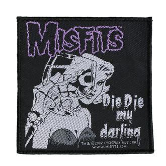 Patch MISFITS - DIE DIE MY DARLING - RAZAMATAZ, RAZAMATAZ, Misfits