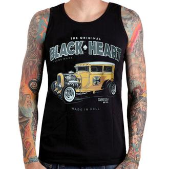 Top pour hommes BLACK HEART - YELLOW BOY HOT ROD - NOIR - 002-0044-BLK