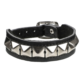 Bracelet pyramides 1 - vegan, BLACK & METAL