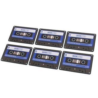 Dessous de verres cassettes - bleu - ROCKBITES, Rockbites