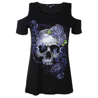 t-shirt hardcore pour femmes - ANGEL PURPLE SKULL - LETHAL THREAT, LETHAL THREAT