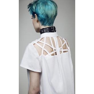 chemise pour femmes DISTURBIA - Abstract Crop - blanc, DISTURBIA