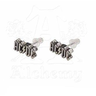 Boucles d'oreilles AC / DC - Logo - ALCHEMY GOTHIC, ALCHEMY GOTHIC, AC-DC