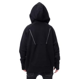 sweat-shirt avec capuche pour hommes - ADALIUS - CHEMICAL BLACK, CHEMICAL BLACK