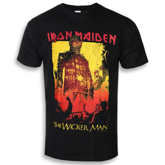 tee-shirt métal pour hommes Iron Maiden - The Wicker Man Fire - ROCK OFF, ROCK OFF, Iron Maiden