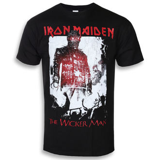 tee-shirt métal pour hommes Iron Maiden - The Wicker Man Smoke - ROCK OFF, ROCK OFF, Iron Maiden