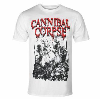 T-shirt CANNIBAL CORPSE - PILE OF SKULLS - BLANC, PLASTIC HEAD, Cannibal Corpse