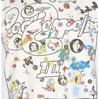 T-shirt pour hommes Led Zeppelin - III Album - blanc, NNM, Led Zeppelin