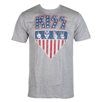 T-shirt Kiss pour hommes - Stars And Stripes - ROCK OFF, ROCK OFF, Kiss