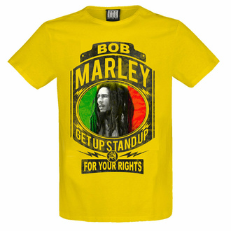 t-shirt pour homme BOB MARLEY - FIGHT FOR YOUR RIGHTS - YEL LOW RAVEN - AMPLIFIED, AMPLIFIED, Bob Marley