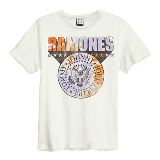 T-shirt pour hommes RAMONES - TIE DYE SHIELD - VINTAGE BLANC - AMPLIFIED, AMPLIFIED, Ramones