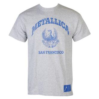 T-shirt pour hommes Metallica - College Crest - gris, NNM, Metallica