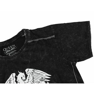 T-shirt pour homme Queen - Classic Crest Snow Wash - ROCK OFF, ROCK OFF, Queen