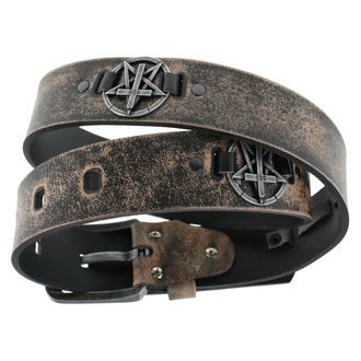 Ceinture Pentagram Cross - brown, JM LEATHER