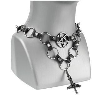 Collier Crossi, Leather & Steel Fashion