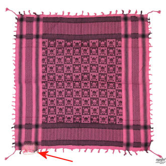 foulard ARAFAT - palestina - crâne 29 - rose - ENDOMMAGÉ