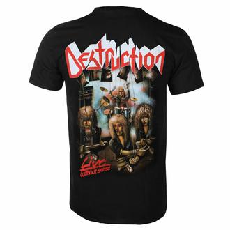 T-shirt pour homme DESTRUCTION - LIVE WITHOUT SENSE - NOIR - PLASTIC HEAD, PLASTIC HEAD, Destruction