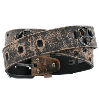 Ceinture Baphomet - brown, JM LEATHER