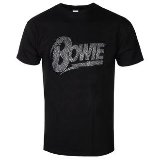 tee-shirt métal pour hommes David Bowie - Logo - ROCK OFF, ROCK OFF, David Bowie