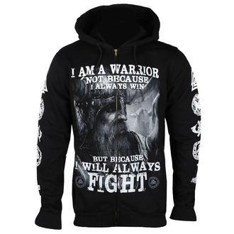 sweat-shirt avec capuche pour hommes - I AM A WARRIOR - VICTORY OR VALHALLA, VICTORY OR VALHALLA