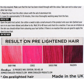 Couleurs de cheveux STAR GAZER - Yummy Colour 4 Color Strips Kit - Rose, STAR GAZER