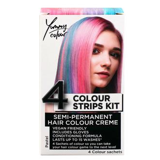 Couleurs de cheveux STAR GAZER - Yummy Colour 4 Colour Strips Kit - Pastel, STAR GAZER