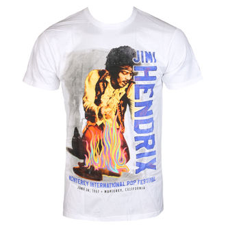tee-shirt métal pour hommes Jimi Hendrix - RAINBOW GUITAR FIRE - BRAVADO, BRAVADO, Jimi Hendrix