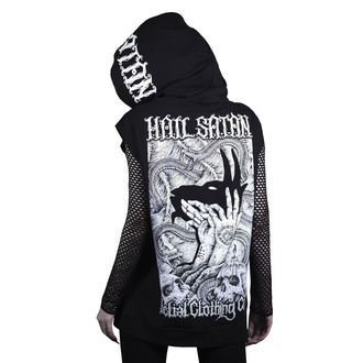 sweat-shirt avec capuche unisexe - hail satan - BELIAL, BELIAL