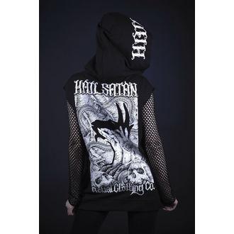 sweat-shirt avec capuche unisexe - hail satan - BELIAL